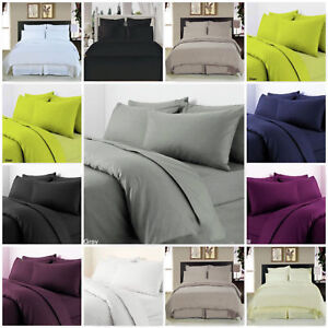 Extra-Deep-Fitted-Sheet-16-034-40cm-Egyptian-Combed-Cotton-T-300-Sateen-Quality