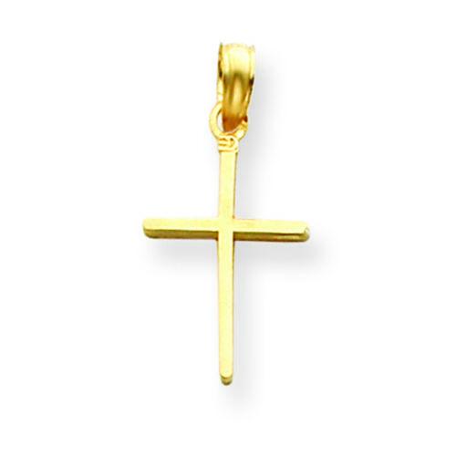 14K Yellow Gold Latin Cross Charm Pendant MSRP $105