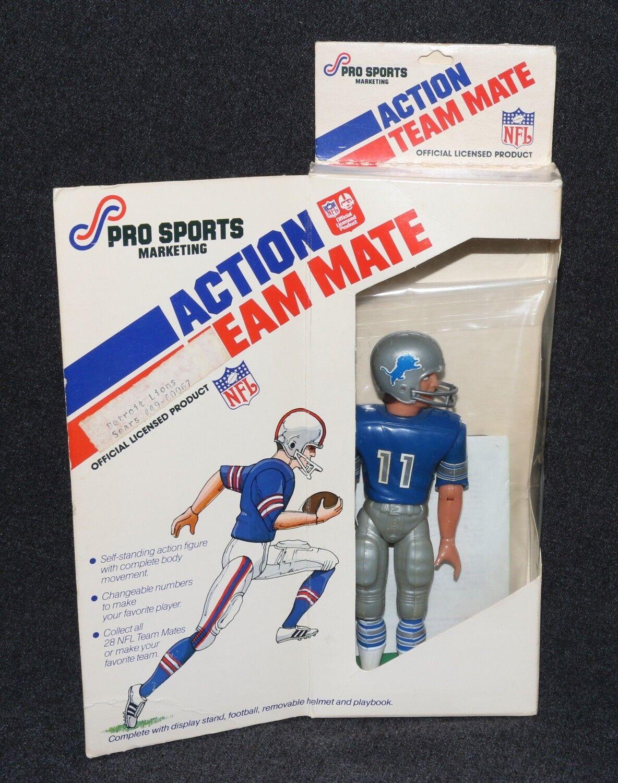 Equipo de acción de la NFL Mate 1977 jugador de fútbol Leones De Detroit En Caja