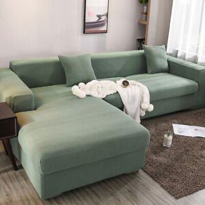 L-Shape-Stretch-Chair-Sofa-Cover-1-4-Seater-Couch-Elastic-Slipcover-Protect-New