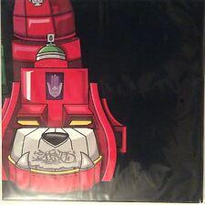 """DJ QBERT / SUPER SEAL """" GIANT ROBO V. 5 LEFT FOOT 12"""" RED OPAQUE VINYL ROBOT"""