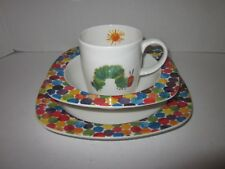 Eric Carle Portmeirion The Very Hungry Caterpillar dish bowl and mug cup : hungry caterpillar plate set - pezcame.com