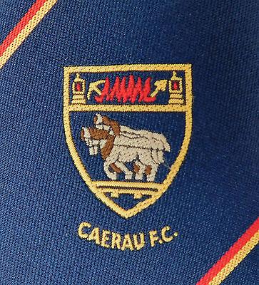 Caerau FC tie Welsh football club Maesteg Bridgend vintage 1980s horse Wales