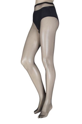 Ladies 1 Pair Trasparenze Ambra Micro Fishnet Tights by Trasparenze
