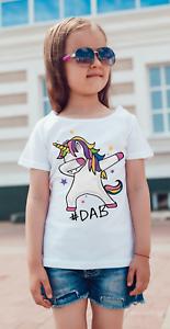 DABBING UNICORN - girls  Childrens Kids T Shirt/bodysuit