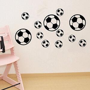 Am-Eg-12PCS-Set-Fussball-Wandkunst-Aufkleber-Schlafzimmer-Heim-Dekor-Schnell