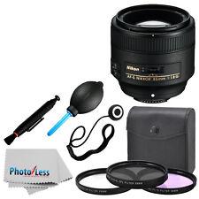 New Nikon Nikkor 85 mm F/1.8G AF-S Lens Complete Deluxe Accessory Kit