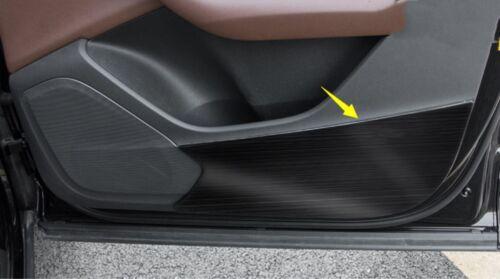 Black titanium Door Anti Kick Pad Protective Trim For Audi Q7 2016-2018