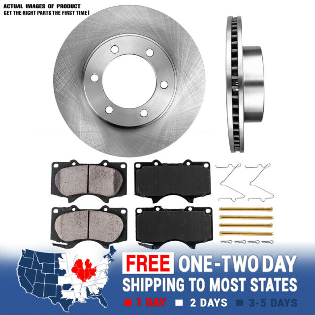 Front Brake Disc Rotors /& Ceramic Pads For Toyota 4Runner T100 4WD 4X4 2WD