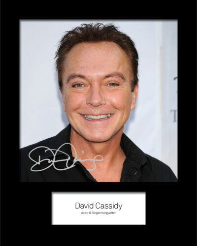 DAVID CASSIDY #2 10x8 SIGNED Mounted Photo Print Reprint FREE DELIVERY