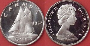 1968 Canadian brilliant uncirculated silver quarter BU