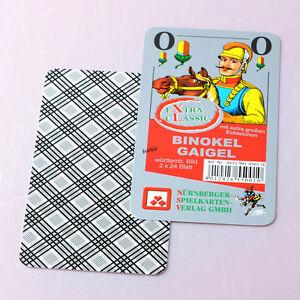 À partir de 2,23 € chaque Gaigel Binokel Jeux de cartes Avec de grands symboles de coin, des jeux Frobis