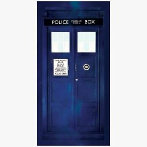 Doctor-who-Tardis-Grand-Serviette-Bain-Plage-Neuf