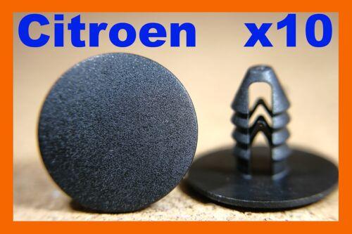 Tarjeta De 10 puertas para Citroen panel recorte Sujetadores Clips de moldeo