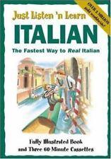 Just Listen 'N Learn Italian, Hill, Brian, Very Good Book
