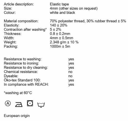 Gummiseil 4 mm weiß Expanderseil Kordel Planenseil Elastisch Flachkordel Gummi