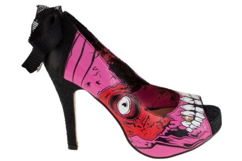 Größe wählbar IRON FIST Schuhe Pumps Gold Digger Zombie Platform Girls pink