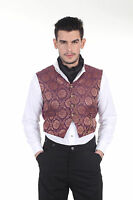 Men's Steampunk Victorian Dandy Gentleman Opera Vest Larp Cosplay Reenactment
