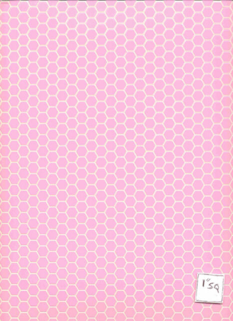 Pink Octagon Tile Floor Sheet #7327 Houseworks mini