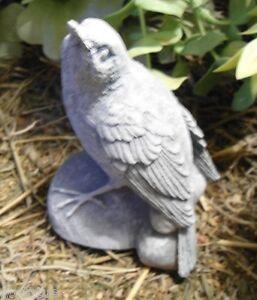 Latex-bird-on-rock-mold-Plaster-mold-cement-mold