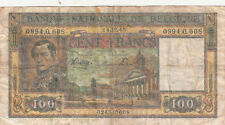 Billet banque BELGIQUE BELGIUM BELGIE 100 frs 1945 état voir scan 608