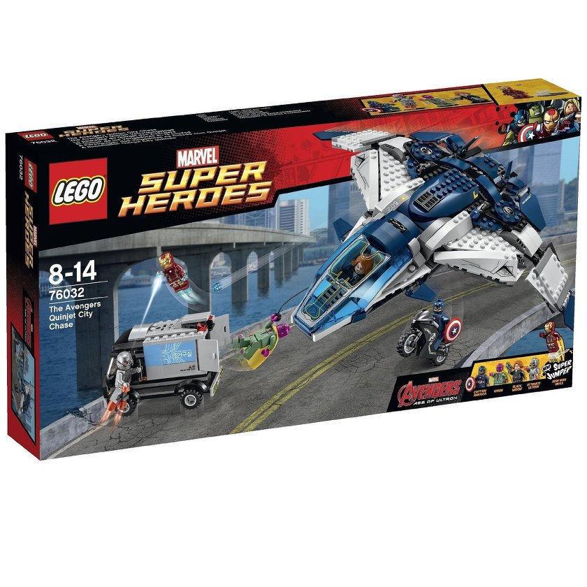Lego Marvel Super Heroes Los Vengadores Quinjet City Chase Ultron visión mk43 (76032)