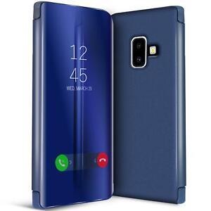Handy-Klapp-Tasche-fuer-Samsung-Galaxy-J6-2018-Huelle-View-Flip-Case-Schutz-Cover