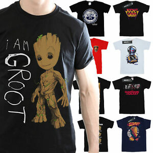 Guardians-Of-The-Galaxy-T-Shirt-Mens-Official-Marvel-Merchandise
