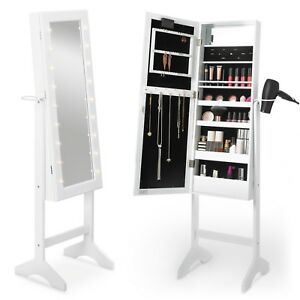 Image Is Loading Beautify Full Length Mirror Cabinet White Led Makeup