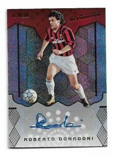 2017 Panini Revolution Soccer Autograph Auto Card :Roberto Donadoni A06