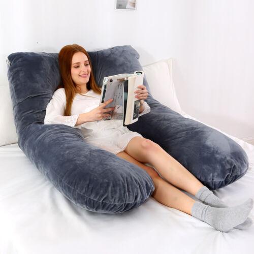 U Shaped Maternity Pregnancy Pillow Nursing Feeding Boyfriend Body Pillow UK