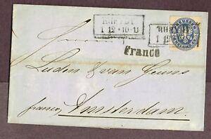 GERMANY-PRUSSIA-RHEYDT-AMSTERDAM-1865-VER25