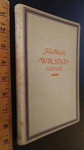 Details About Wir Sind Gedichte Franz Werfel 1922 Hc Muchen Kurt Wolff Verlag Poetry