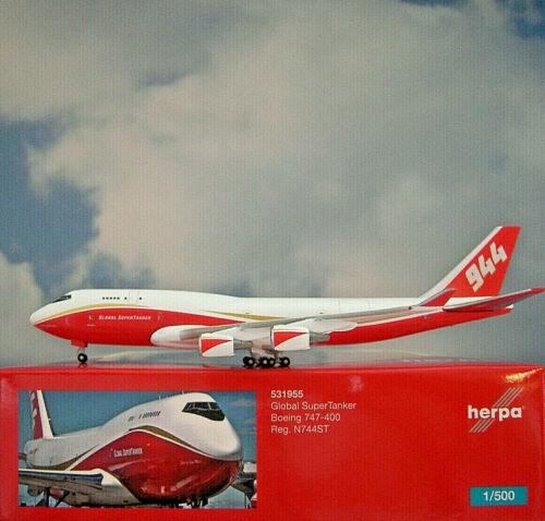 Herpa Wings 1:500 boeing 747-400 granelero n744st 531955 modellairport 500