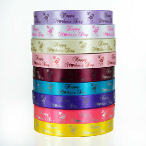 25mm-PRINTED-PERSONALISED-SATIN-RIBBON-Mother-039-s-Day-Logo-Branding-Florists