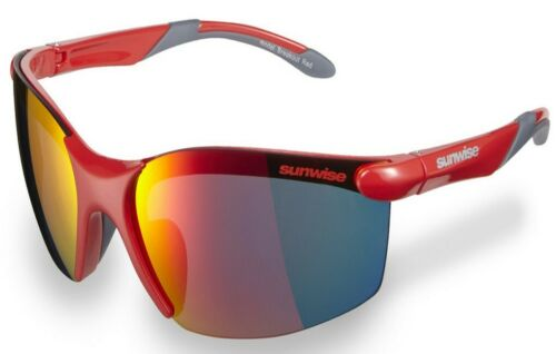 with free hardcase Sports /& Outdoor Activity Sunglasses Sunwise Breakout Red