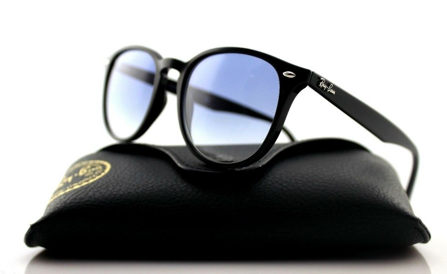 4a1dfea973 Authentic Ray-Ban Black Light Blue Gradient Square Sunglasses RB ...