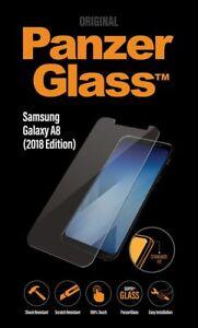 PanzerGlass-fuer-Samsung-Galaxy-A8-2018-Displayschutzglasfolie-Klar-BRANDNEU