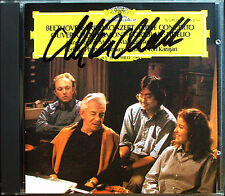 Anne-Sophie MUTTER Signed BEETHOVEN Yo-Yo MA KARAJAN ZELTSER CD Triple Concerto
