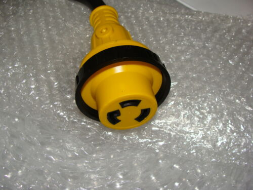 RV Power Cord Adapter 30 amp Male to 30 amp twist lock
