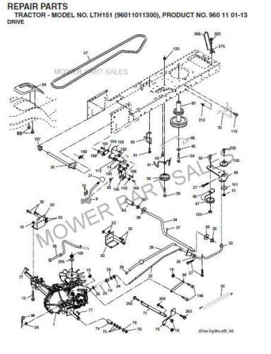 Husqvarna Transmission Drive Belt Fits LTH125 LTH151 LTH1342 LTH130 LTH135