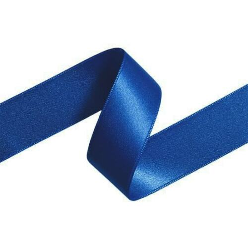 Double Sided Satin Ribbon 6mm 10mm 15mm 25mm Widths Rolls 23 Metres