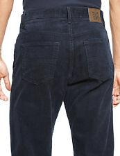 M&S Mens PURE Cotton 5 Pocket CORDUROY Trousers 36 Waist 31 L NAVY Cords *BNWT*