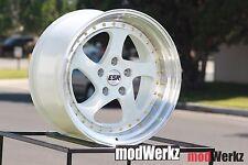 17x8.5 17x9.5 Inch +30/20 ESR SR02 5x100 White Wheels Rims GTI WRX FRS BRZ Prius