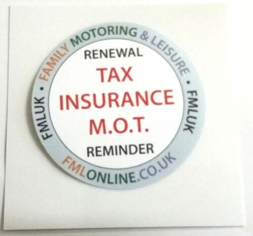 New Car Vehicle Windscreen TAX M.O.T Insurance Reminder Gadget