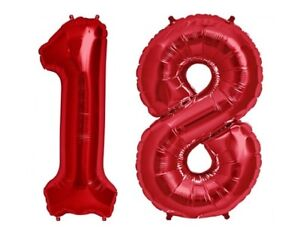 Image Is Loading Giant 40 034 18 Hot Red Number Balloons