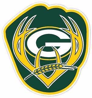 Wisconsin Fan Packers Brewers Badgers Sport Combo Logo Sticker Decal Vinyl