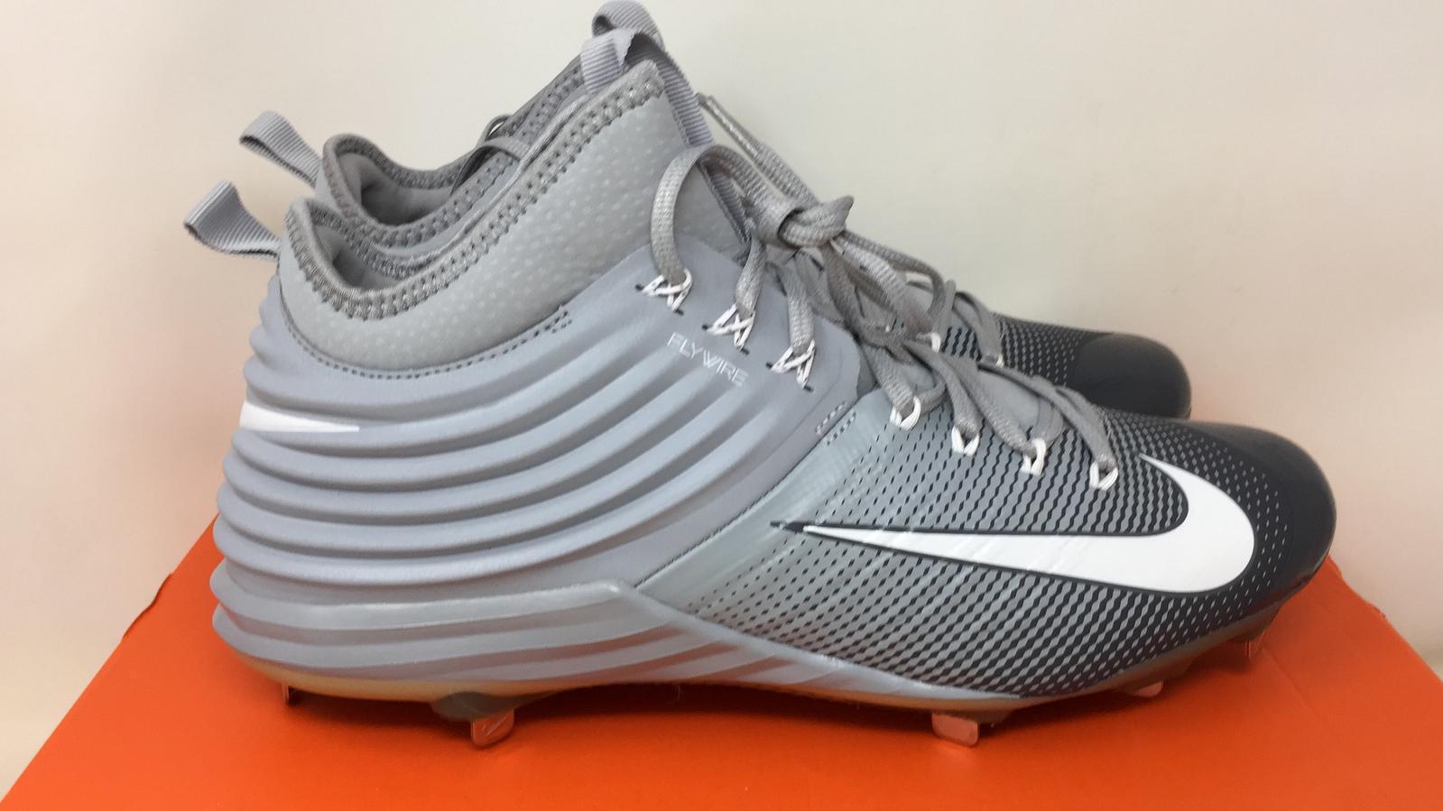 9da874c5f743 Nike Lunar Trout 2 Metal Baseball Cleats Sz 11.5 Wolf Grey White ...