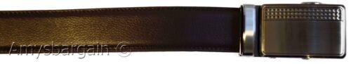 Men/'s belt Leather Dress Belt Automatic Sliding Buckle Genuine leather belt BN