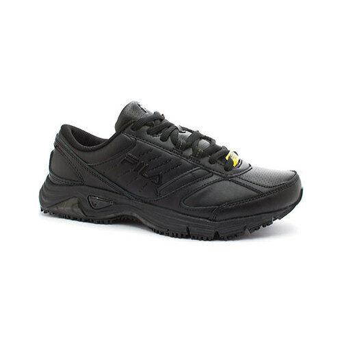 97c4016078 FILA Memory Flux Slip Resistant 5sg30033-001 Black Work Shoes Medium Women  Blacks 8